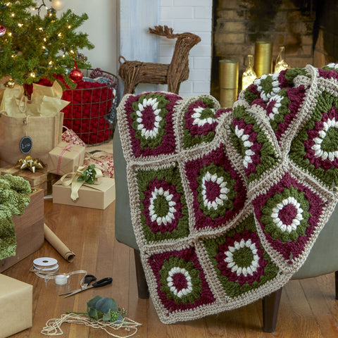 Yuletide Motif Throw