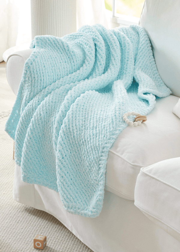 Diagonal Knit Blanket