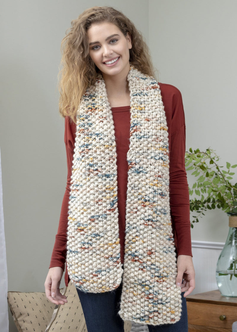 Premier® So Woolly Simply Seed Stitch Scarf- Knit