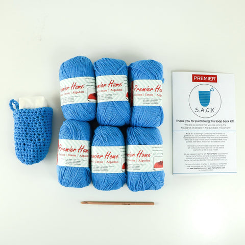 Soap Sack Kit Delft Blue (6 Skeins)