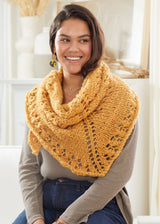 Golden Mesh Shawl