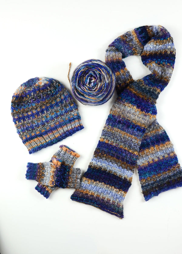 Slip Stitch Hat, Scarf, and Mitts