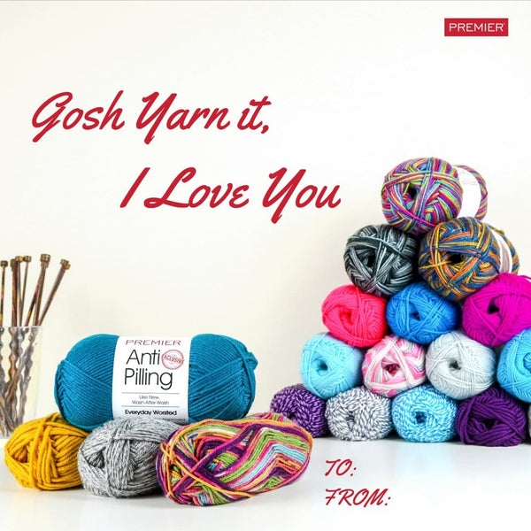 Free Valentine - Gosh Yarn It, I Love You