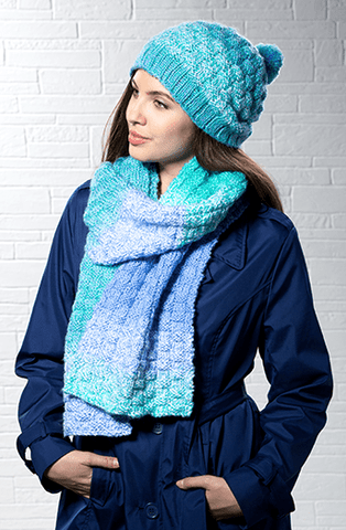 Premier® Basketweave Hat and Scarf