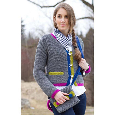 Color Block Cardigan & Bag