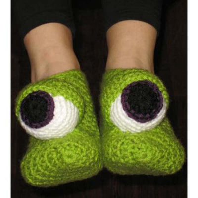 Premier® Monster Eyes Slippers Crochet Pattern Free Download