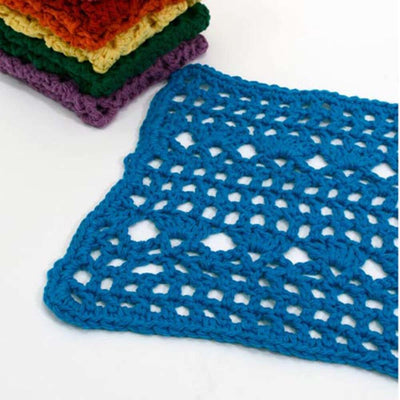Premier® Rainbow of Washcloths - Blue Free Download