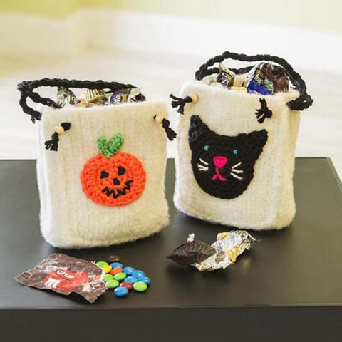 Felted Trick or Treat Bags