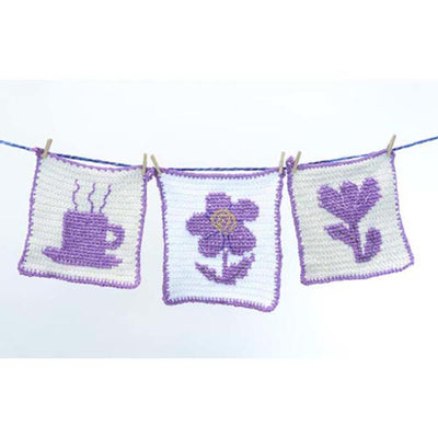 Premier® Silhouette Washcloth - Coffee, Daisy, and Tulip Free Download
