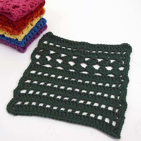 Premier® Rainbow of Washcloths - Green Free Download