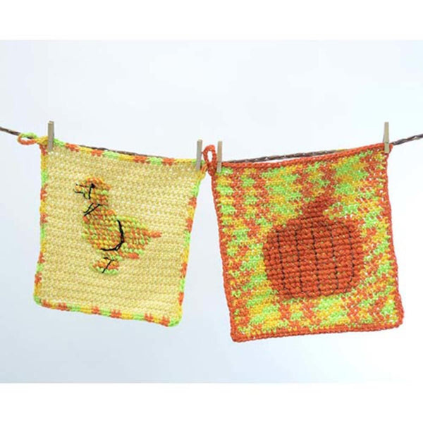 Premier® Silhouette Washcloth - Ducky and Pumpkin Free Download