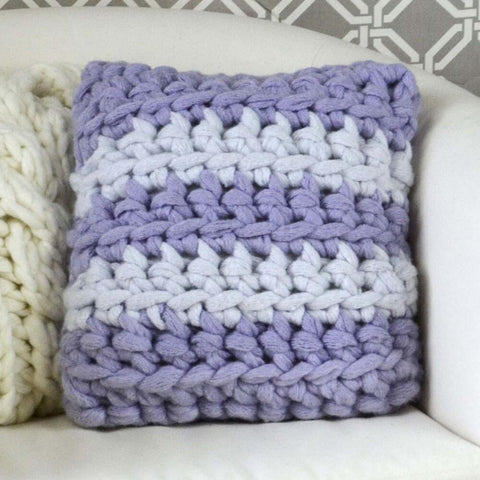 Premier® Crochet Stripes Pillow Free Download
