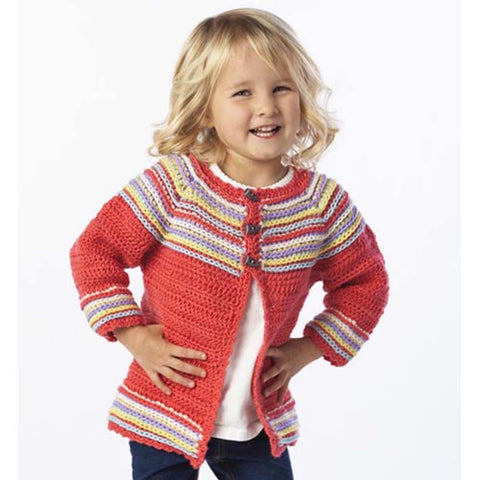 Premier® Garter Stitch Cardigan and Booties Free Download
