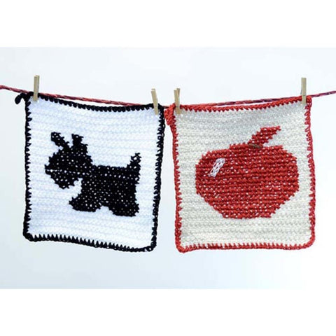 Premier® Silhouette Washcloth - Dog and Apple Free Download