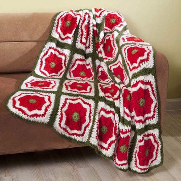 Premier® Christmas Flower Throw Free Download