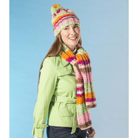 Premier® Chunky Hat & Scarf Set Free Download