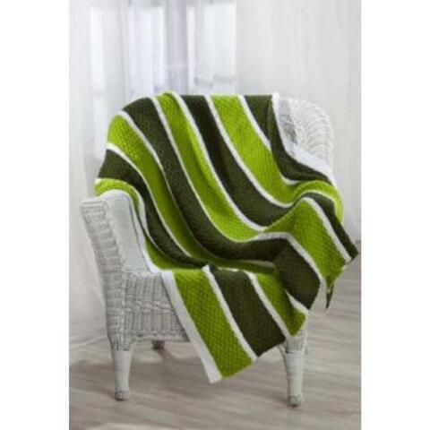 Premier® Wide Stripes Throw Knit Pattern Free Download