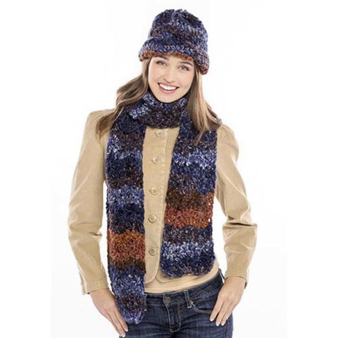 Deborah Norville Chevron Hat & Scarf Free Download