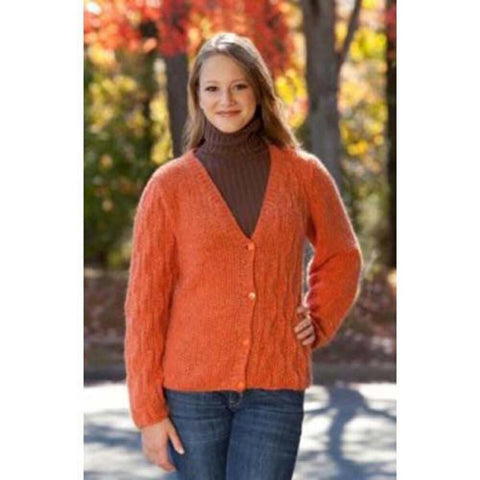 Deborah Norville Mock-Cable Cardigan Knit Pattern Free Download