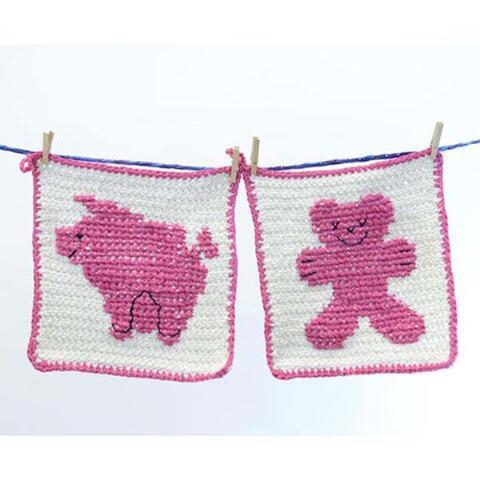 Premier® Silhouette Washcloth - Pig and Bear Free Download