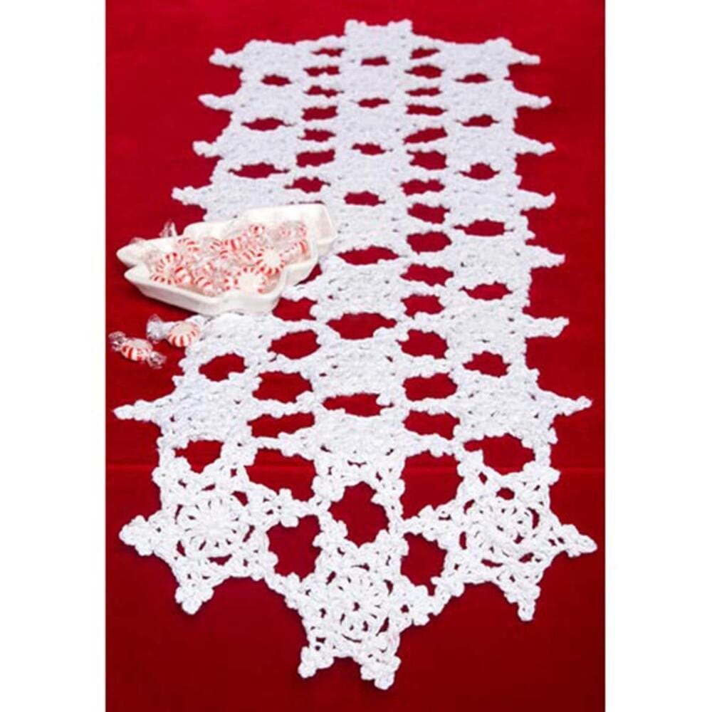 Premier® Snowflake Tablerunner Free Download – Premier Yarns