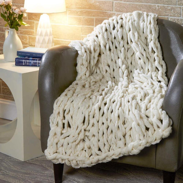 Premier 174 Cloudy Cable Blanket Arm Knitting Premier Yarns