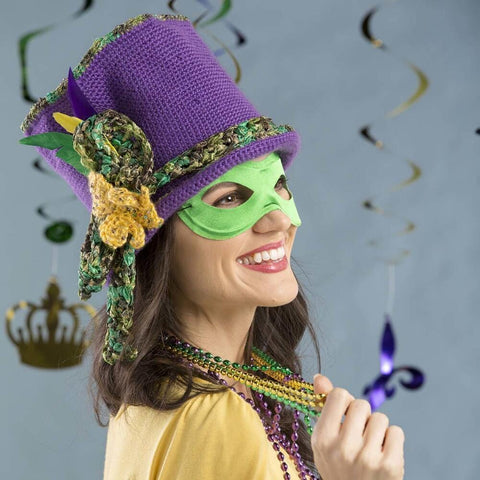 Premier® Mardi Gras Top Hat Free Download