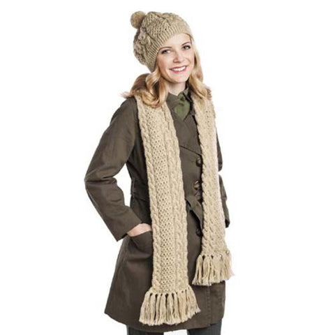 Deborah Norville Cabled Scarf and Hat Free Download