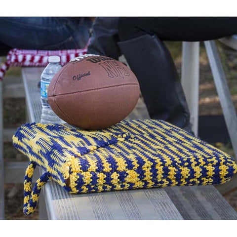 Team Spirit Crochet Seat Cushion