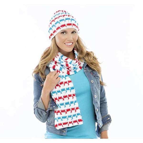 Premier® Red, White, and Blue Scarf & Hat Free Download
