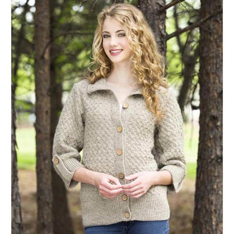 Mock-Cable Cardigan