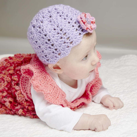 Isaac Mizrahi® Craft™ Beauty Shell-Stitch Crochet Cap