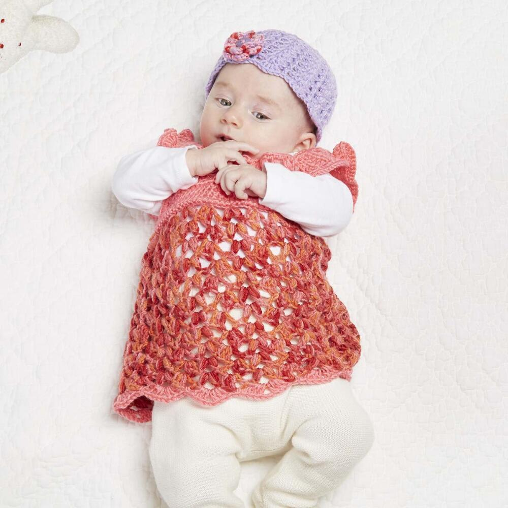 Isaac Mizrahi Crochet Baby Dress Free Download – Premier Yarns