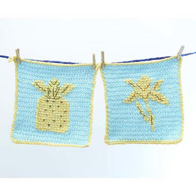 Premier® Silhouette Washcloth - Pineapple and Iris Free Download