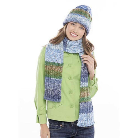 Deborah Norville Simple Ribbed Hat & Scarf Free Download