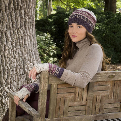 Downton Abbey Slip Stitch Hat and Mitts Free Download