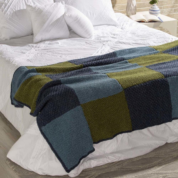 Checkerboard Knitting Pattern Blanket : Premier  Checkerboard Blanket Free Download   Premier Yarns