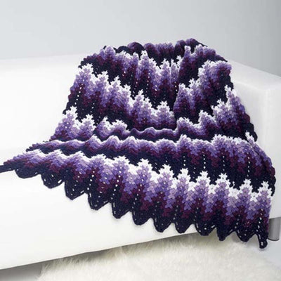 Aubergine Ripple Throw