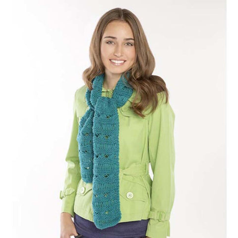 Yarnover Cross Scarf