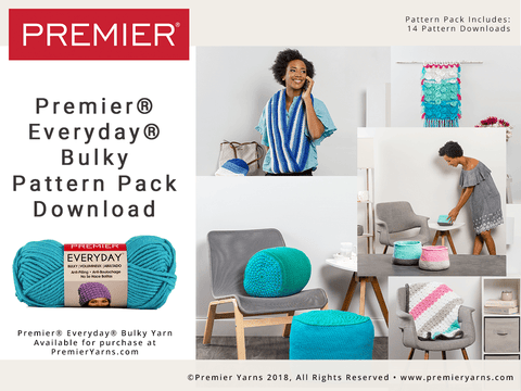 Premier Everyday®  Soft Worsted Bulky  Pattern Pack Download