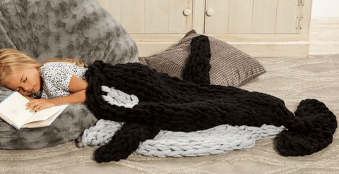 Premier® Arm Knit Orca Blanket