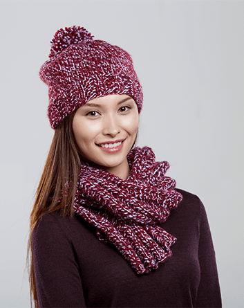 Jackie's Hat and Scarf Set
