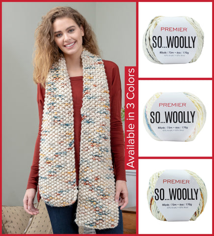 Premier® So Woolly Simply Seed Stitch Scarf- EXCLUSIVE