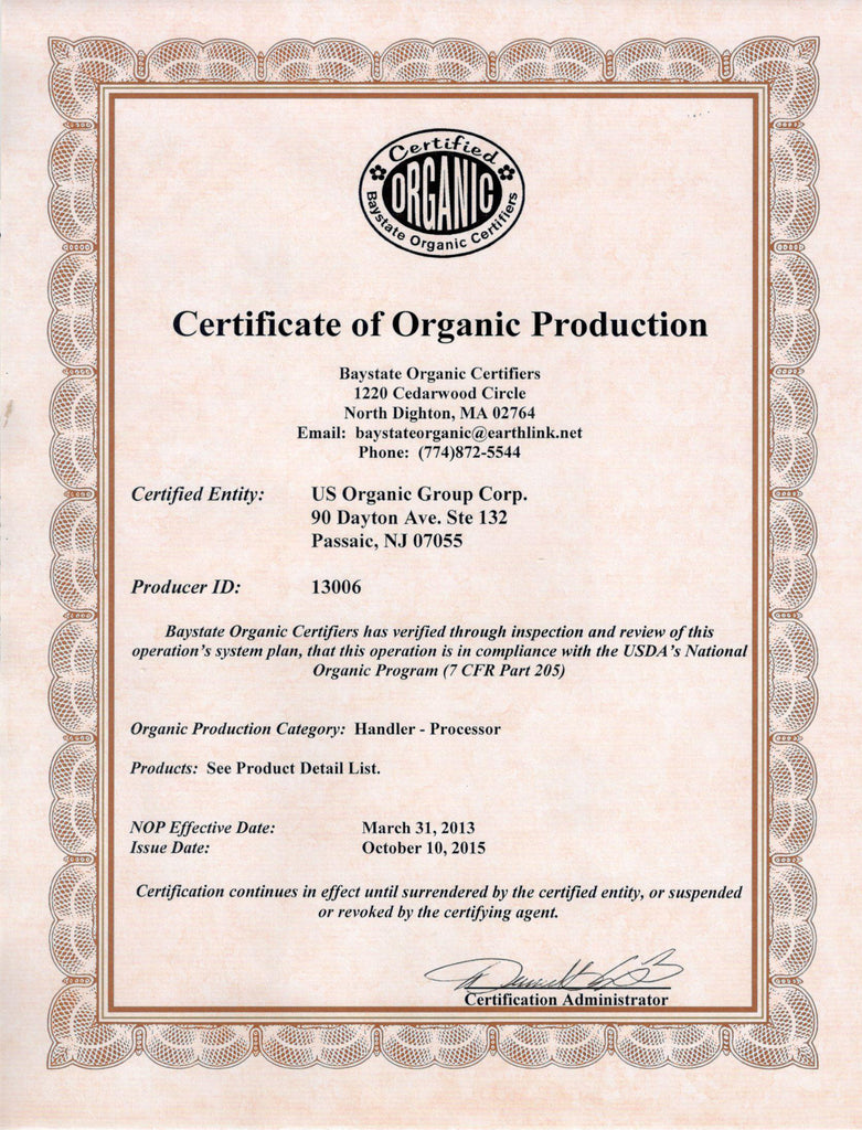 US Organic Certification