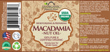 100% Pure Certified USDA Organic - Macadamia Nut Oil
