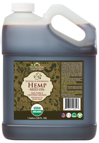 100% Pure Certified USDA Organic - Hemp Seed Oil 128 oz (1 Gallon)