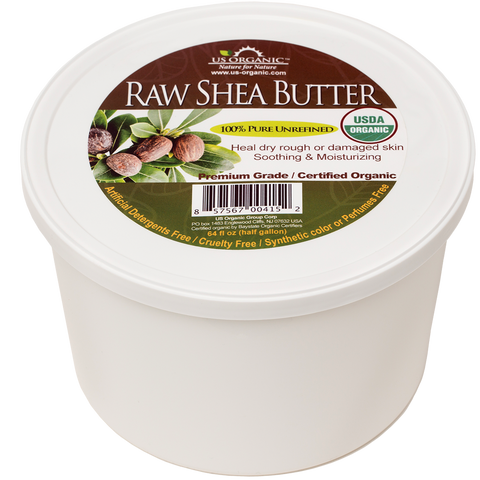 100% Pure Certified USDA Organic - Raw Shea Butter 64 oz