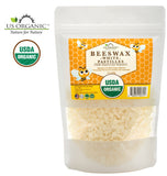 100% Pure Certified USDA Organic Beeswax White Pastille 8oz