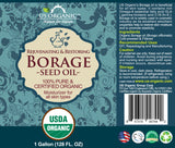 100% Pure Certified USDA Organic - Borage Seed Oil 128 oz (1 Gallon) (18% GLA)