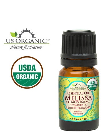 100% Pure Certified USDA Organic - Melissa Essential Oil (Lemon Balm)